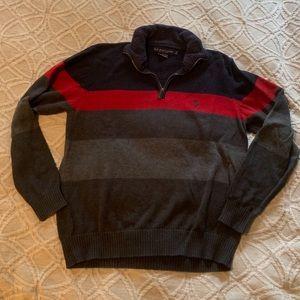 Quarter Zip Men's Polo Pullover- Large